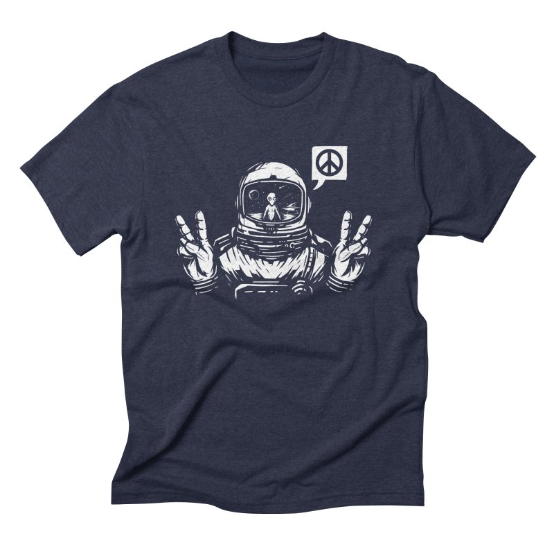 We came in peace Men's Triblend T-Shirt by Steven Toang