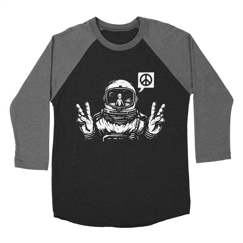 We came in peace Men's Baseball Triblend Longsleeve T-Shirt by Steven Toang