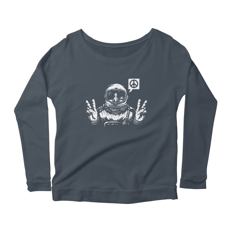 We came in peace Women's Scoop Neck Longsleeve T-Shirt by Steven Toang