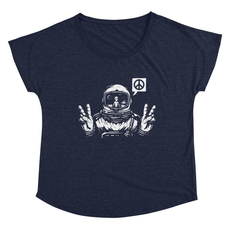 We came in peace Women's Dolman Scoop Neck by Steven Toang