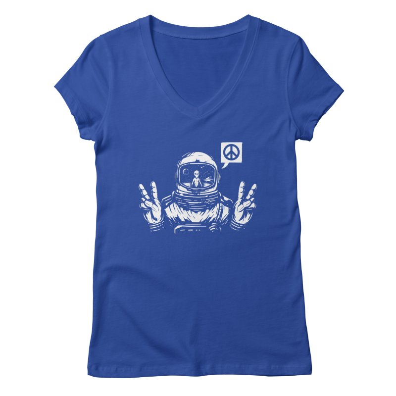 We came in peace Women's Regular V-Neck by Steven Toang