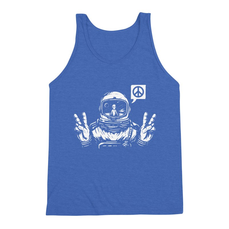 We came in peace Men's Triblend Tank by Steven Toang