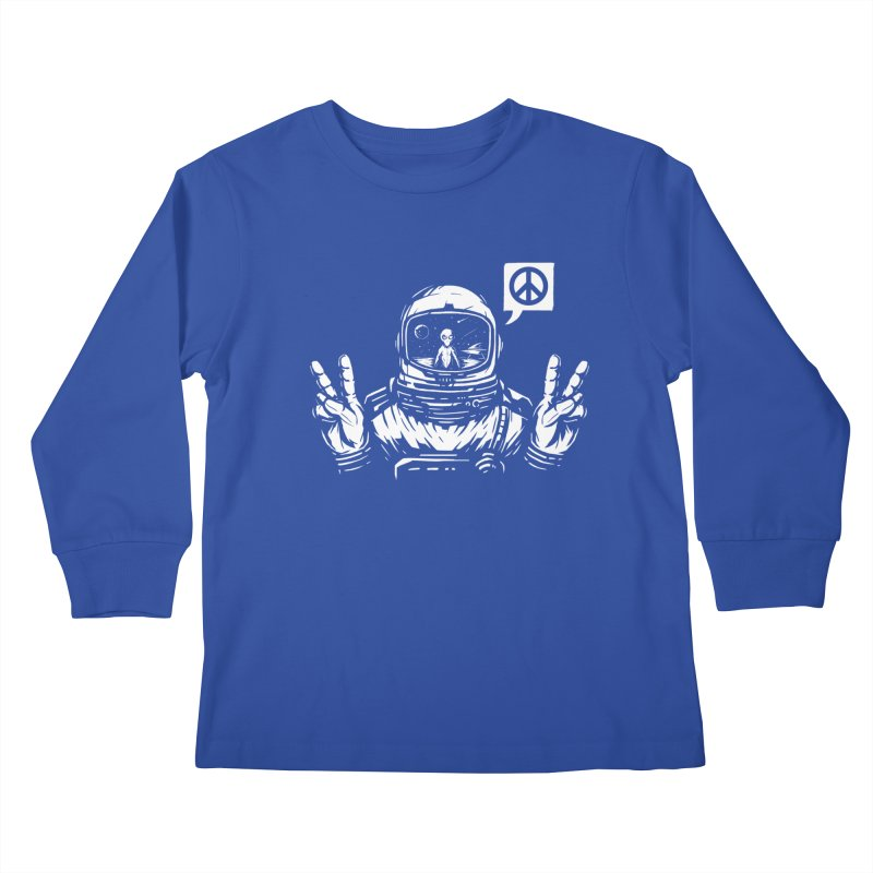 We came in peace Kids Longsleeve T-Shirt by Steven Toang