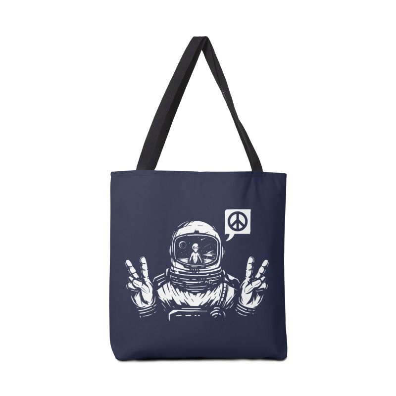 We came in peace Accessories Tote Bag Bag by Steven Toang