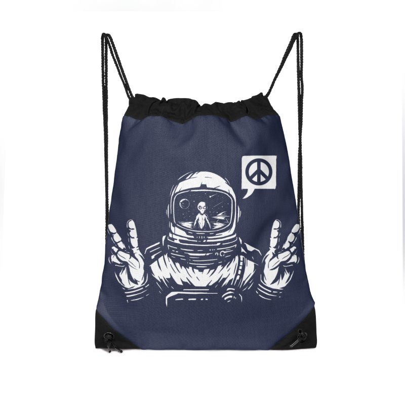 We came in peace Accessories Drawstring Bag Bag by Steven Toang