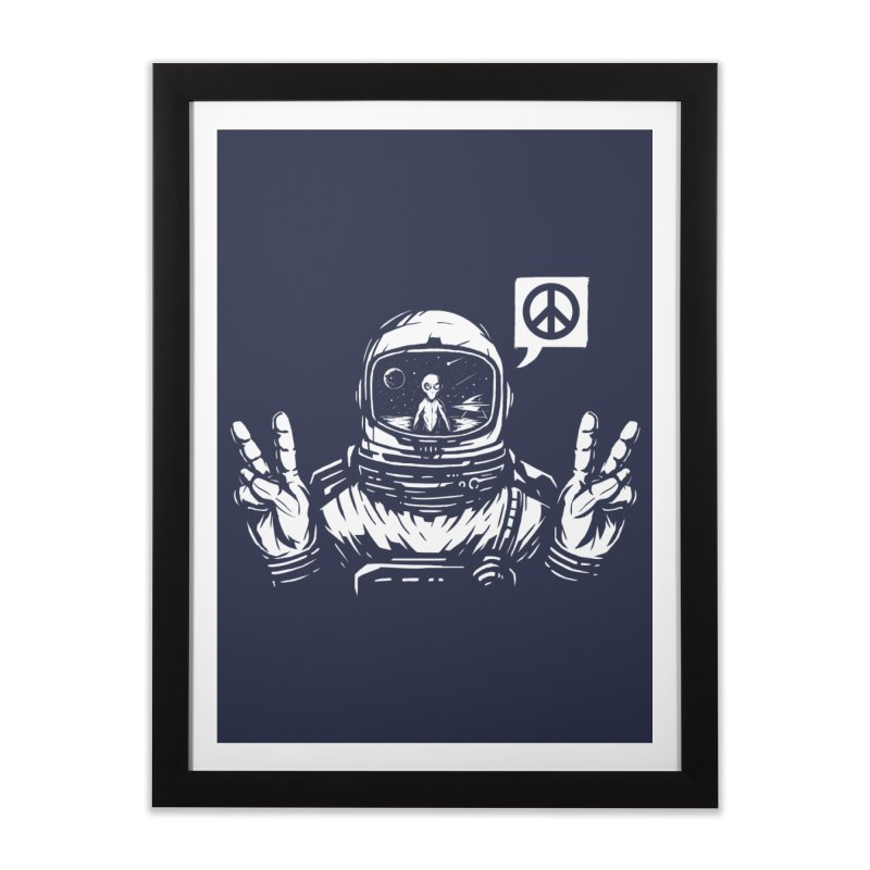 We came in peace Home Framed Fine Art Print by Steven Toang