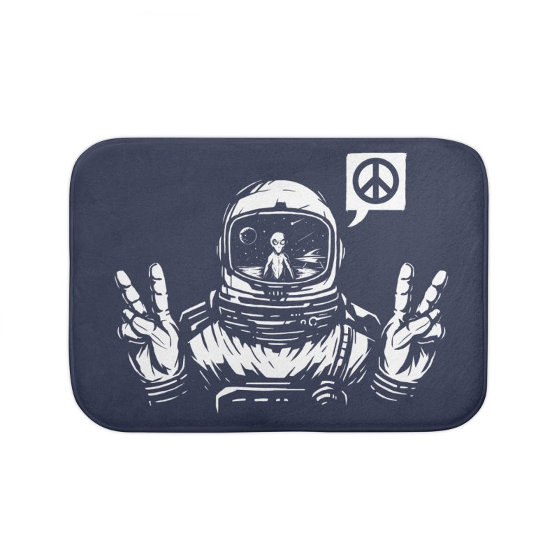 We came in peace Home Bath Mat by Steven Toang
