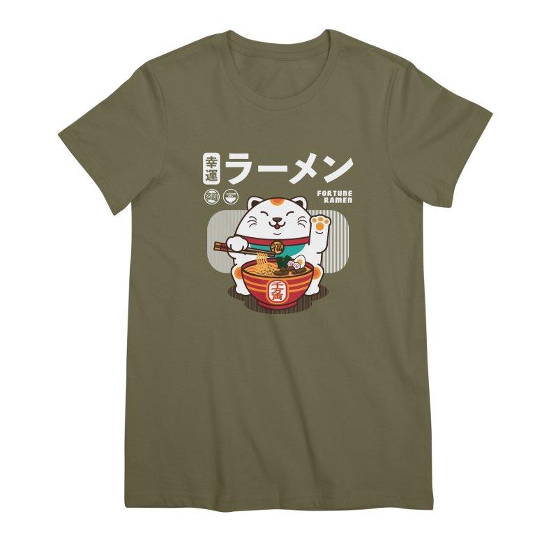Fortune Ramen Women's Premium T-Shirt by Steven Toang