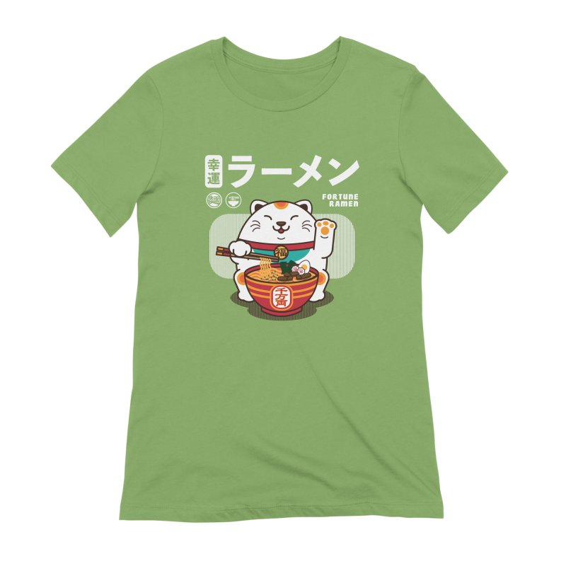 Fortune Ramen Women's Extra Soft T-Shirt by Steven Toang