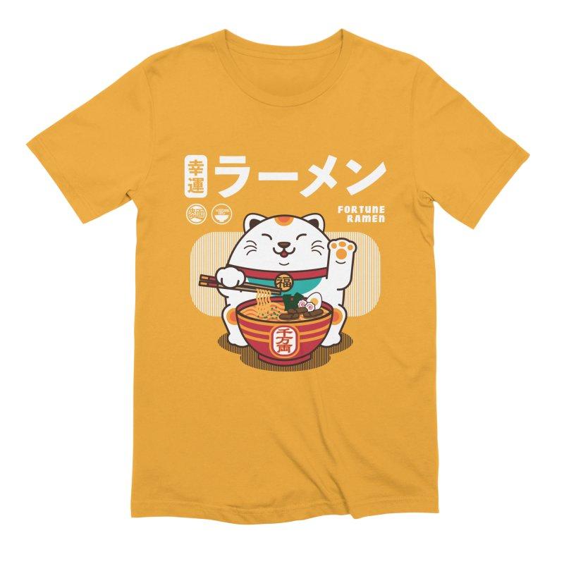 Fortune Ramen Men's Extra Soft T-Shirt by Steven Toang