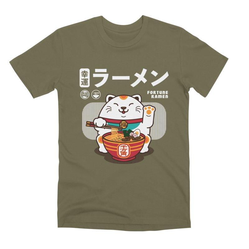 Fortune Ramen Men's Premium T-Shirt by Steven Toang