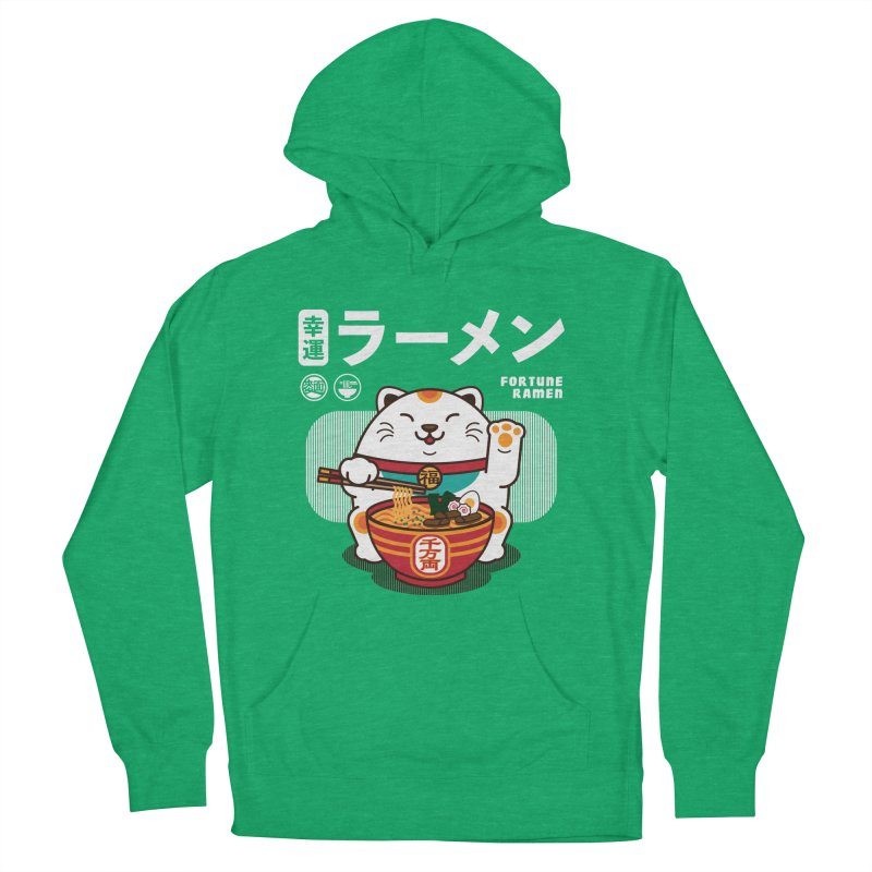 Fortune Ramen Women's French Terry Pullover Hoody by Steven Toang