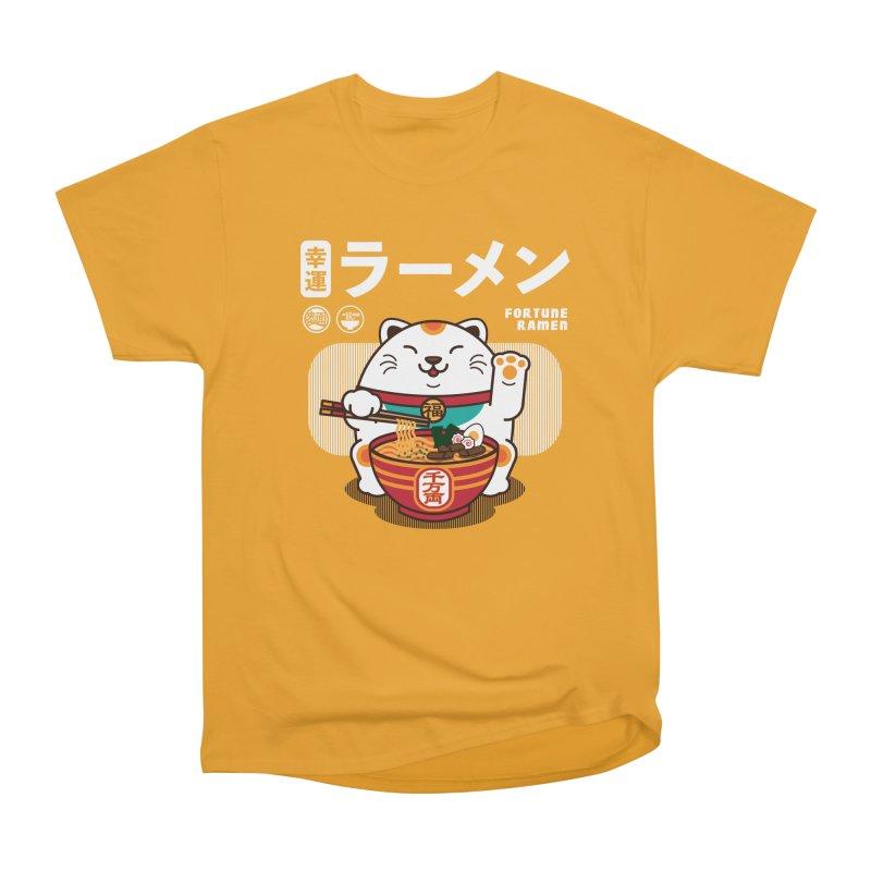 Fortune Ramen Women's Heavyweight Unisex T-Shirt by Steven Toang