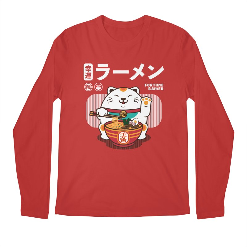 Fortune Ramen Men's Regular Longsleeve T-Shirt by Steven Toang