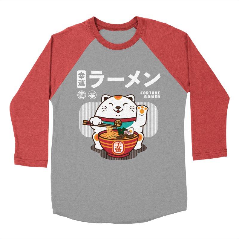 Fortune Ramen Women's Baseball Triblend Longsleeve T-Shirt by Steven Toang