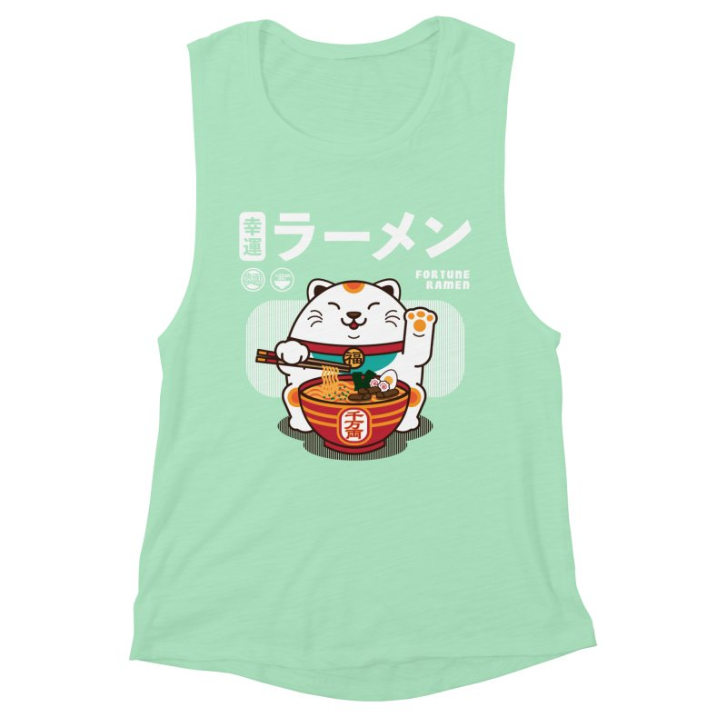 Fortune Ramen Women's Muscle Tank by Steven Toang