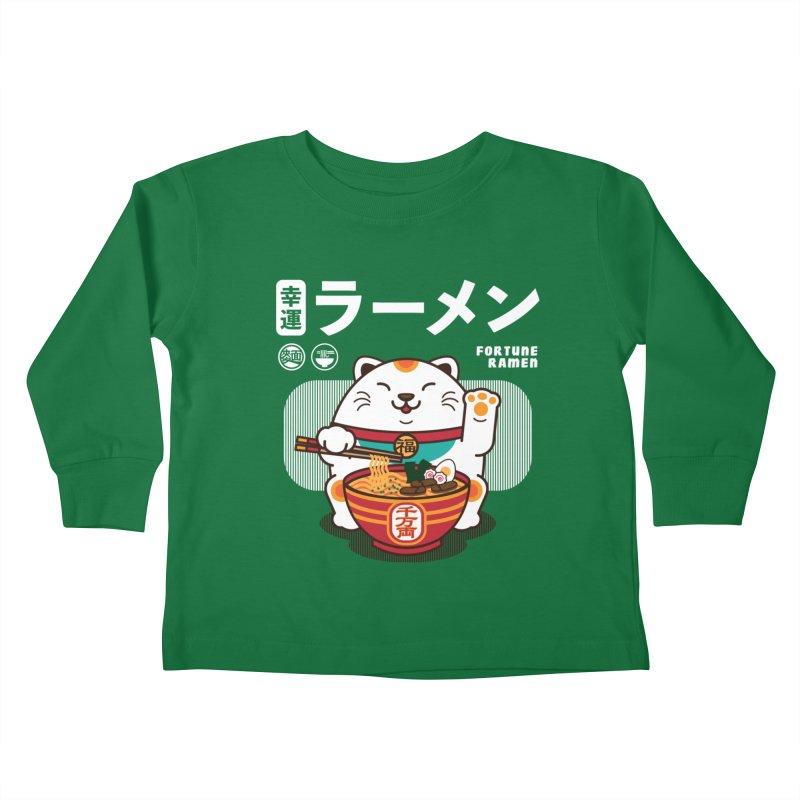 Fortune Ramen Kids Toddler Longsleeve T-Shirt by Steven Toang
