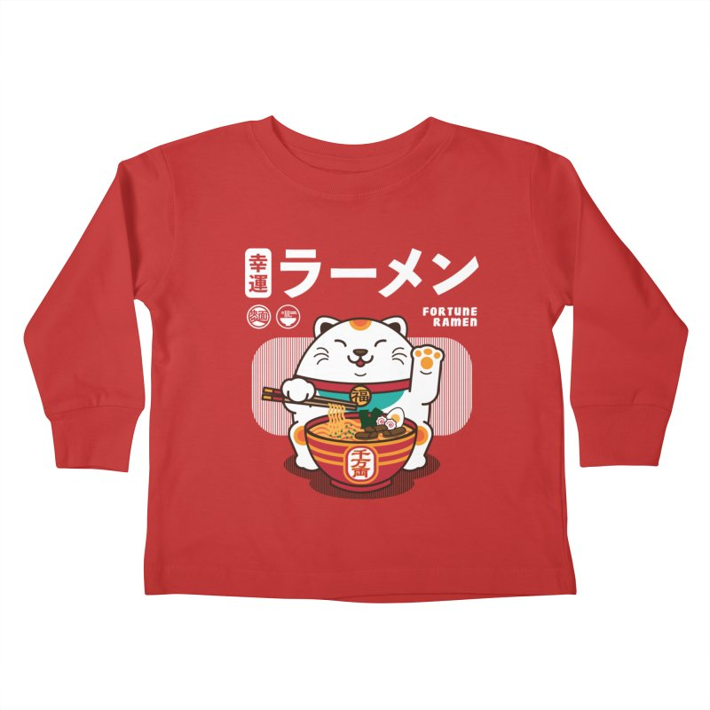 Fortune Ramen Kids Toddler Longsleeve T-Shirt by Steven Toang