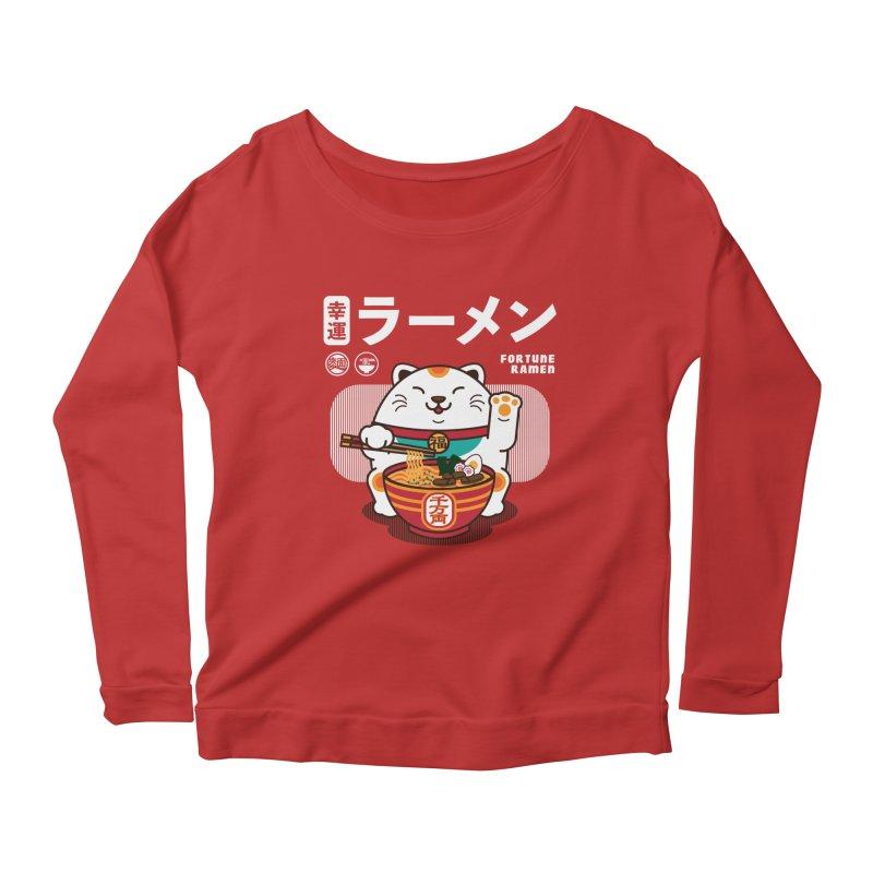 Fortune Ramen Women's Scoop Neck Longsleeve T-Shirt by Steven Toang