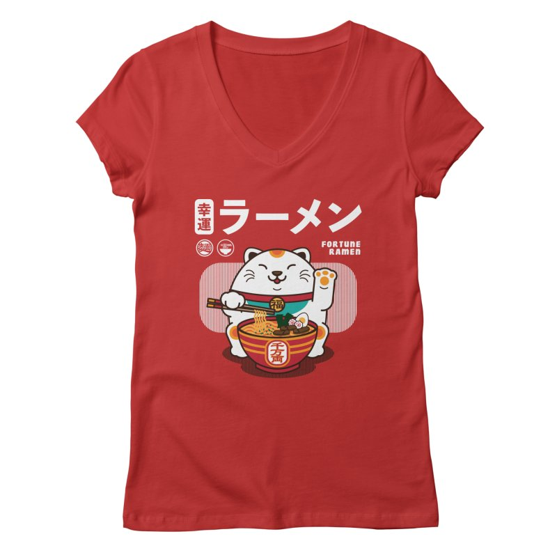 Fortune Ramen Women's Regular V-Neck by Steven Toang