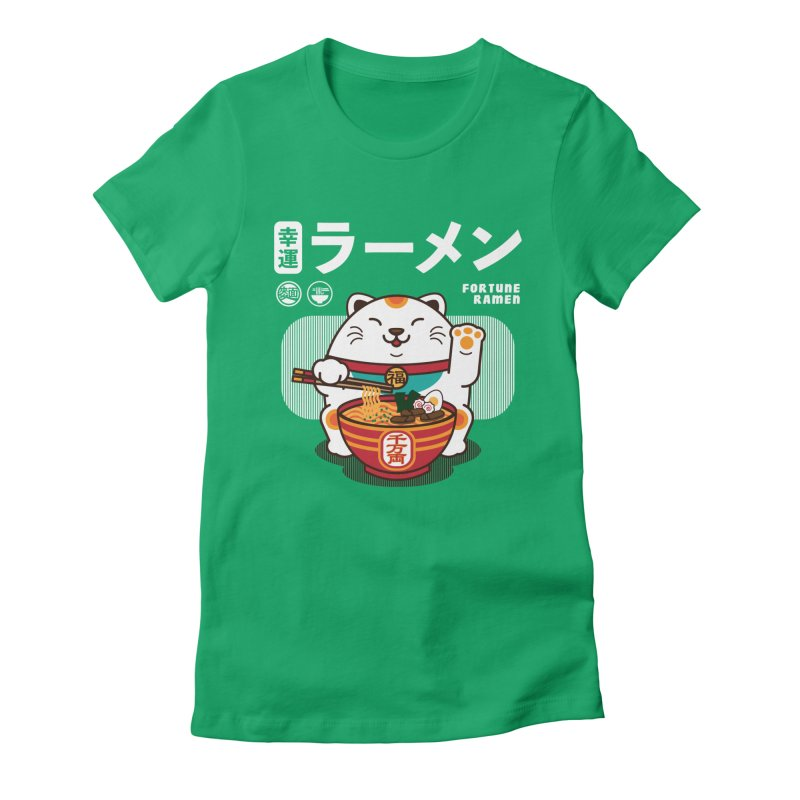 Fortune Ramen Women's Fitted T-Shirt by Steven Toang