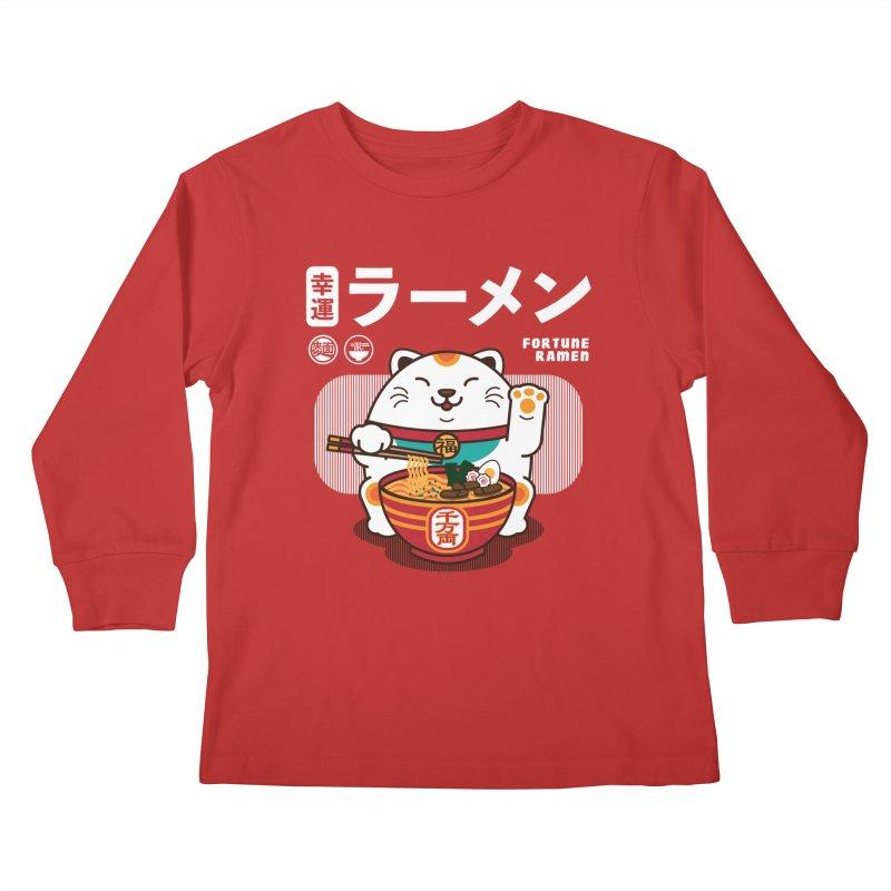 Fortune Ramen Kids Longsleeve T-Shirt by Steven Toang