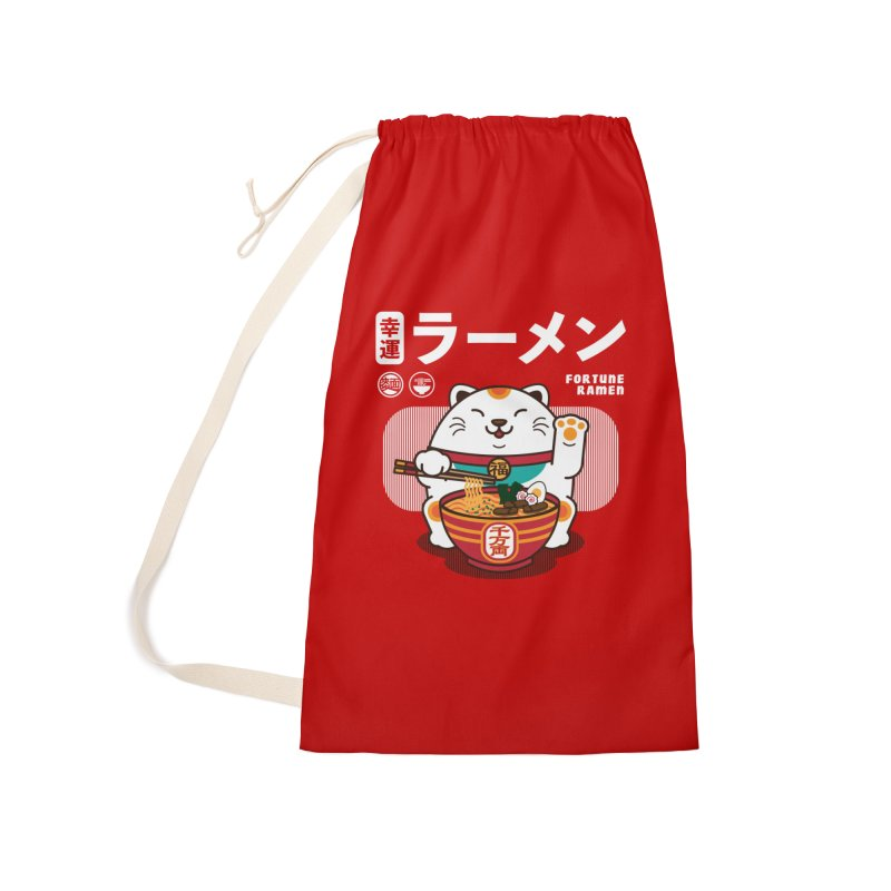 Fortune Ramen Accessories Laundry Bag Bag by Steven Toang