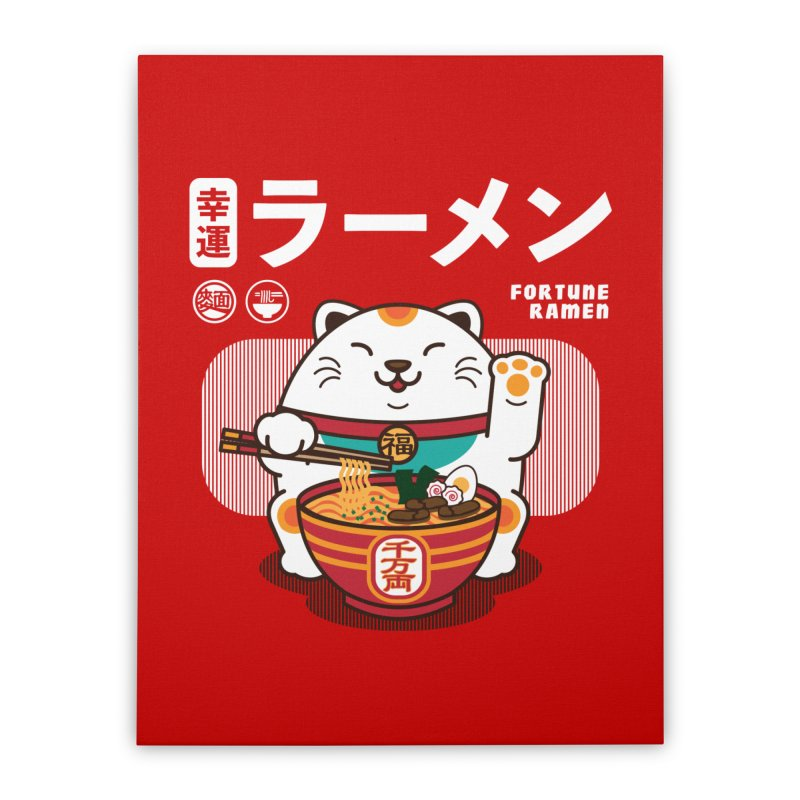 Fortune Ramen Home Stretched Canvas by Steven Toang