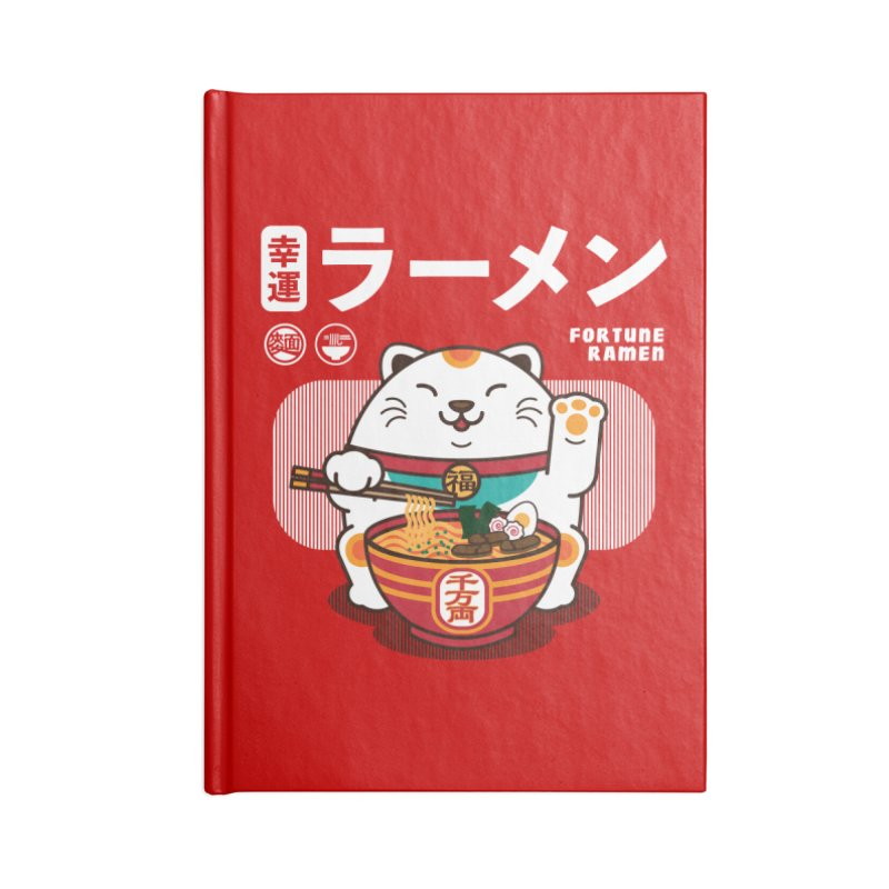Fortune Ramen Accessories Blank Journal Notebook by Steven Toang