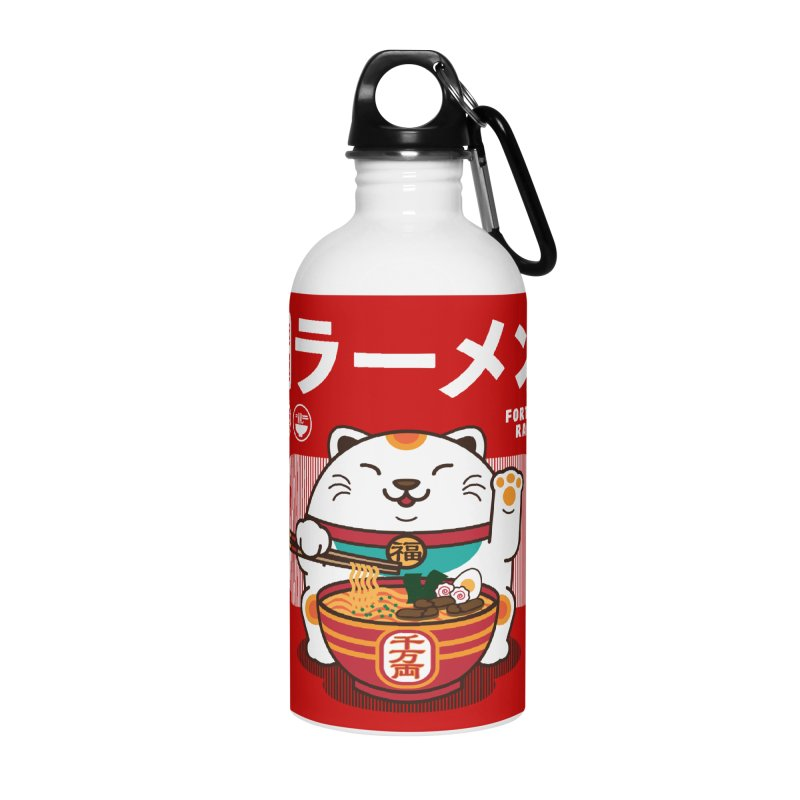 Fortune Ramen Accessories Water Bottle by Steven Toang