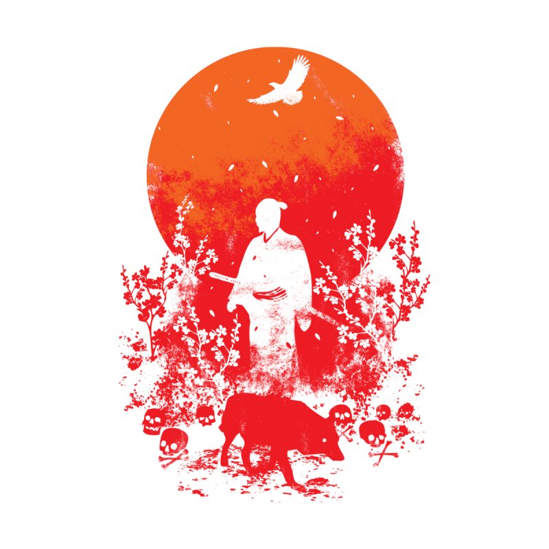 Red Sun Home Shower Curtain by Steven Toang