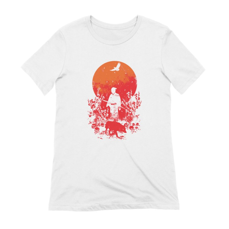 Red Sun Women's T-Shirt by Steven Toang