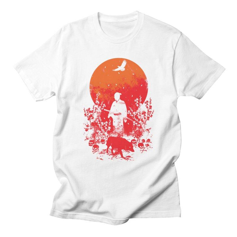 Red Sun Men's T-Shirt by Steven Toang