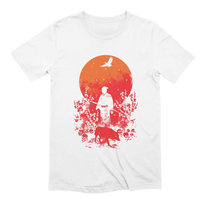 Red Sun Men's Extra Soft T-Shirt by Steven Toang