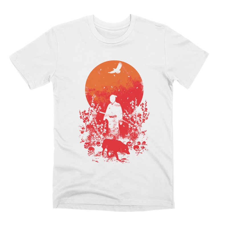 Red Sun Men's Premium T-Shirt by Steven Toang
