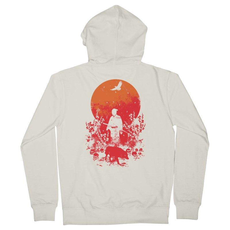 Red Sun Women's Zip-Up Hoody by Steven Toang