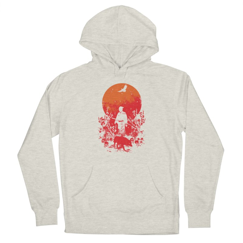 Red Sun Women's French Terry Pullover Hoody by Steven Toang