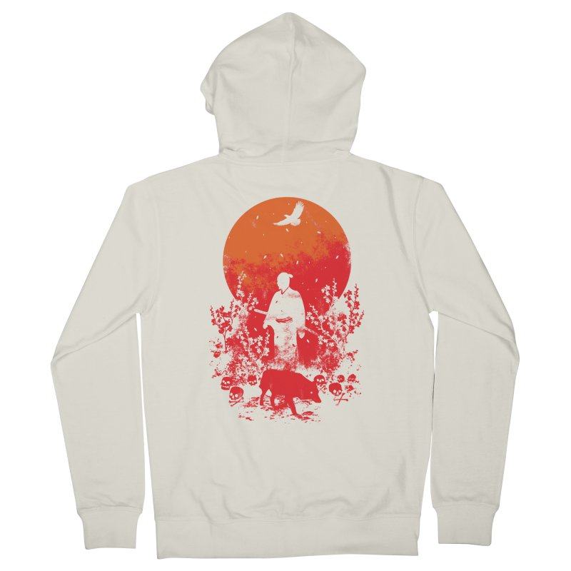 Red Sun Men's French Terry Zip-Up Hoody by Steven Toang