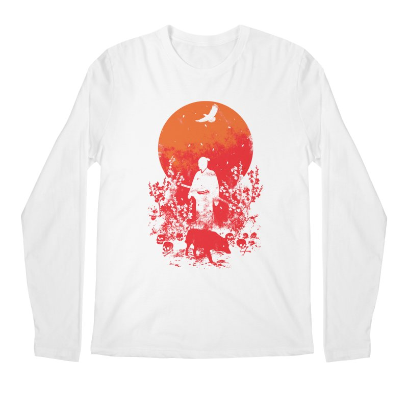 Red Sun Men's Regular Longsleeve T-Shirt by Steven Toang