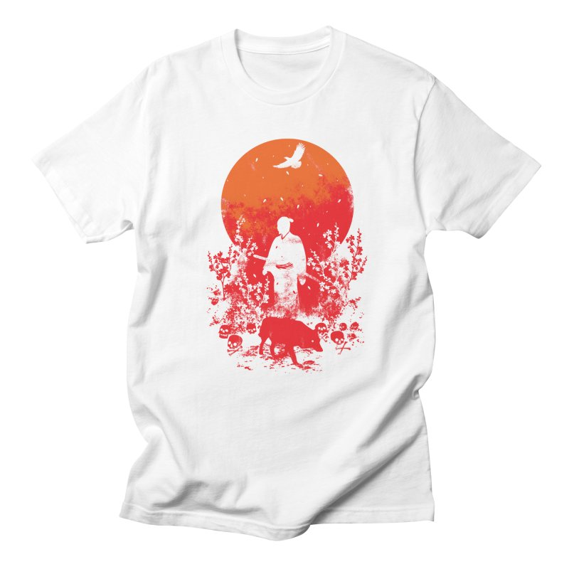 Red Sun Men's Regular T-Shirt by Steven Toang