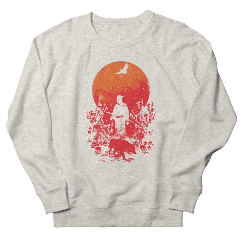 Red Sun Men's French Terry Sweatshirt by Steven Toang
