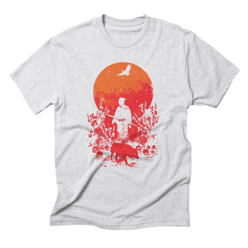 Red Sun Men's Triblend T-Shirt by Steven Toang