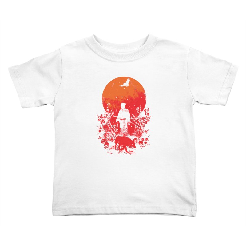 Red Sun Kids Toddler T-Shirt by Steven Toang