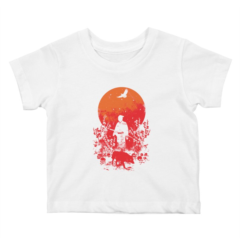 Red Sun Kids Baby T-Shirt by Steven Toang