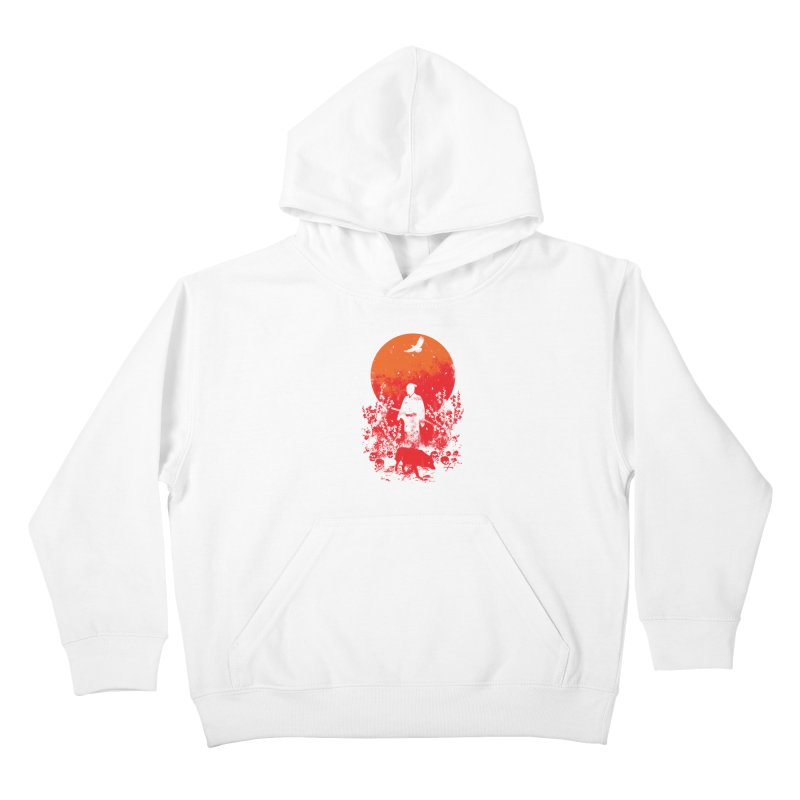 Red Sun Kids Pullover Hoody by Steven Toang