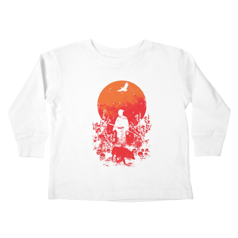 Red Sun Kids Toddler Longsleeve T-Shirt by Steven Toang