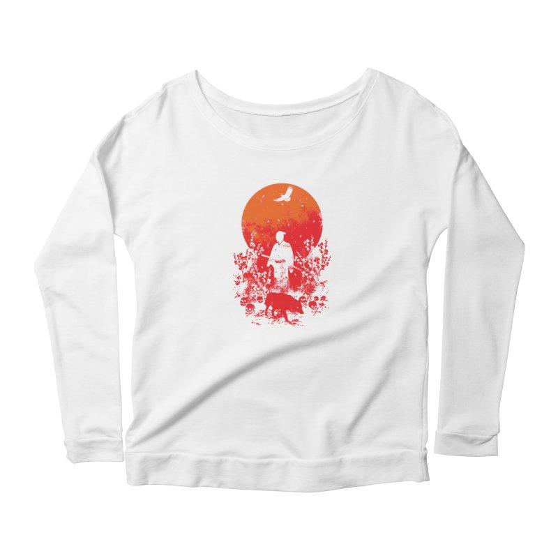 Red Sun Women's Longsleeve T-Shirt by Steven Toang