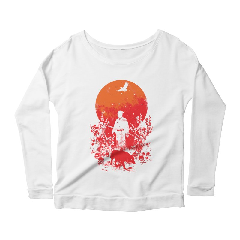 Red Sun Women's Longsleeve T-Shirt by Steven Toang