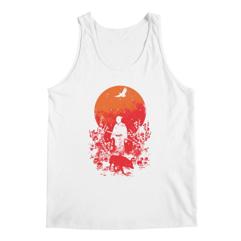 Red Sun Men's Regular Tank by Steven Toang