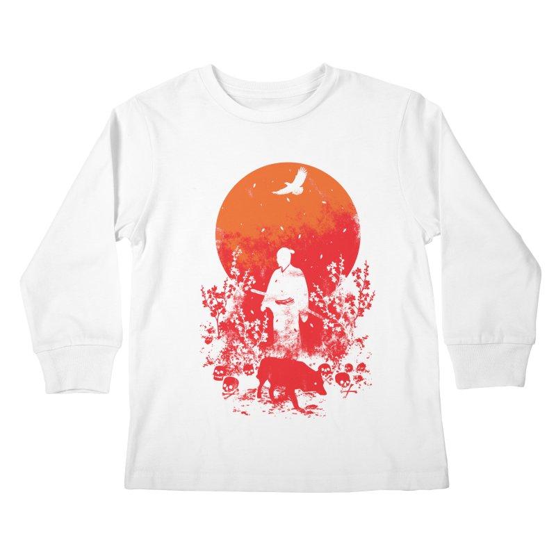 Red Sun Kids Longsleeve T-Shirt by Steven Toang